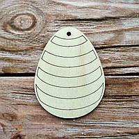 Деревянная заготовка из фанеры. Пасхальное яйцо № 9 ( 7 х 9  см)