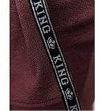 Стильный костюм-тройка большого размера в стиле casual №782СБ-бордо, фото 4