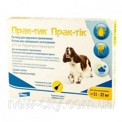 Prac-tic (Прак-тик) капли для собак весом от 11-22 кг
