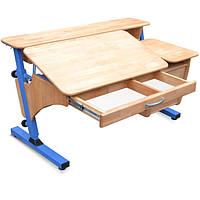 """Письменный стол """"Эргономический"""" с тумбой дерево"""