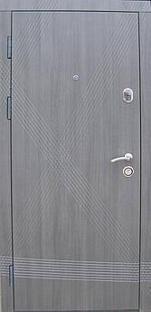 Вхідні двері Діагональ еко каштан