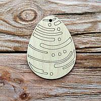 Деревянная заготовка из фанеры. Пасхальное яйцо № 14 ( 7 х 9  см)