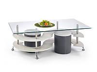 Журнальний стіл з пуфамы NINA 5 сірий/темний сірий (130х70х42) Halmar