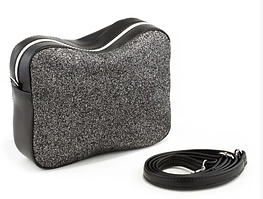 Кожаные сумки Кроссбоди SOHO в расцветках черный пелле и серый глиттер