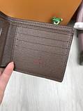 Трендовый мужской кошелек Gucci коричневый Премиум Качество бумажник Стильный VIP Модный Гуччи копия, фото 2