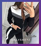 Женский спортивный костюм черный 42-44 44-46, фото 1