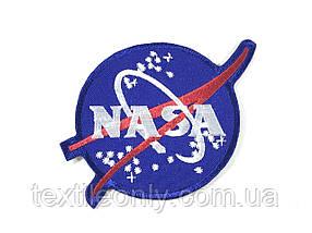 Нашивка NASA эмблема 100х95 мм