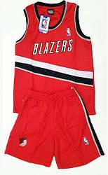 Баскетбольная форма взрослая BLAZERS красная