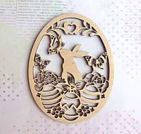 Яйцо. Пасхальный кролик. Заготовка из фанеры, заготовка деревянная