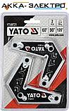 Магнитные сварочные уголки 2 шт YATO YT-08721, фото 3