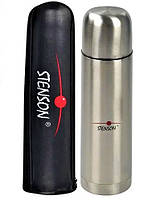 Термос питьевой 1 литр + чехол (нержавеющая сталь, одна чашка) Stenson