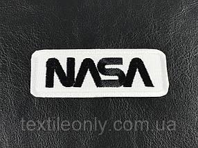 Нашивка NASA надпись черная 80х30 мм