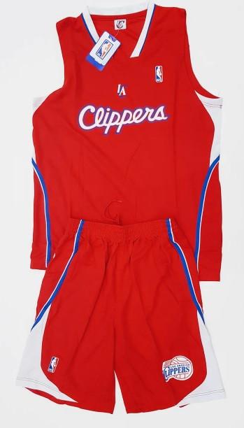 Баскетбольная форма взрослая CLIPPERS красная