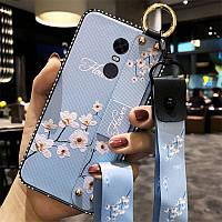 Чехол Lanyard для Xiaomi Redmi Note 4x / Note 4 Global (Snapdragon) бампер с ремешком Blue