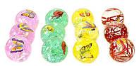 Іграшка 8762 м'ячик -стрибун 5,5 см з метеликом, що світиться уп