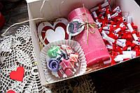 """Коробочка """"51 причина, почему я тебя люблю"""" + мыло, аромасвеча и деревянная валентинка"""