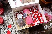 "Коробочка ""51 причина, почему я тебя люблю"" + зеркалце, аромасвеча и деревянная валентинка, фото 1"