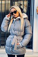 Куртка плащевка Канада. Теплая короткая курточка с капюшоном