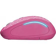 Мышь беспроводная Trust Yvi FX (22336) Pink USB, фото 3