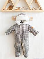 """Демисезонные комбинезоны для новорожденных """"Ватсон"""", коричневый рубчик, фото 1"""