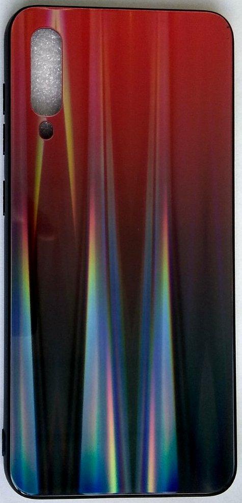 "Силиконовый чехол ""Стеклянный Shine Gradient"" Samsung A505 / A50 / A307 / A30S (Ruby red) # 16"