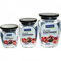 Набор банок для хранения сыпучих продуктов Glasslock 3 шт (HG-638)