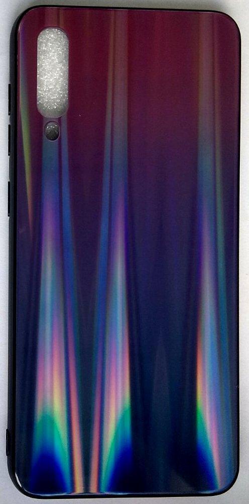 """Силиконовый чехол """"Стеклянный Shine Gradient"""" Samsung A505 / A50 / A307 / A30S (Violet Barca) # 8"""