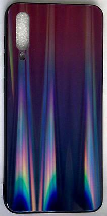 """Силиконовый чехол """"Стеклянный Shine Gradient"""" Samsung A505 / A50 / A307 / A30S (Violet Barca) # 8, фото 2"""