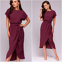 Платье цвета марсала Molly (Код MF-405)