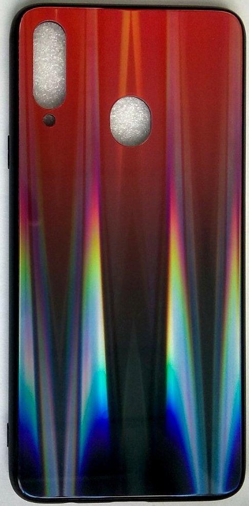 """Силиконовый чехол """"Стеклянный Shine Gradient"""" Samsung A207 / A20S (Ruby red) # 16"""