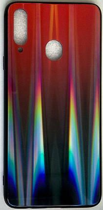 """Силиконовый чехол """"Стеклянный Shine Gradient"""" Samsung A207 / A20S (Ruby red) # 16, фото 2"""