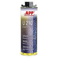 """Средство для защиты кузова и жидкая уплотняющая масса APP U210  """"2 в 1"""" чёрная 1л"""