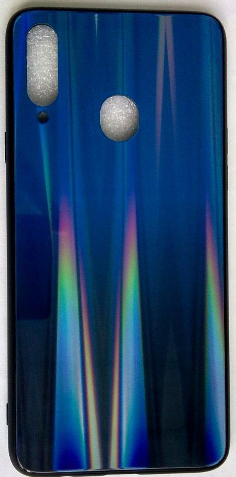 """Силиконовый чехол """"Стеклянный Shine Gradient"""" Samsung A207 / A20S (Deep blue) # 10"""