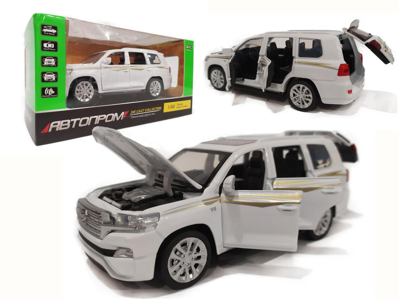 Машинка Toyota Land Cruiser белая 6608