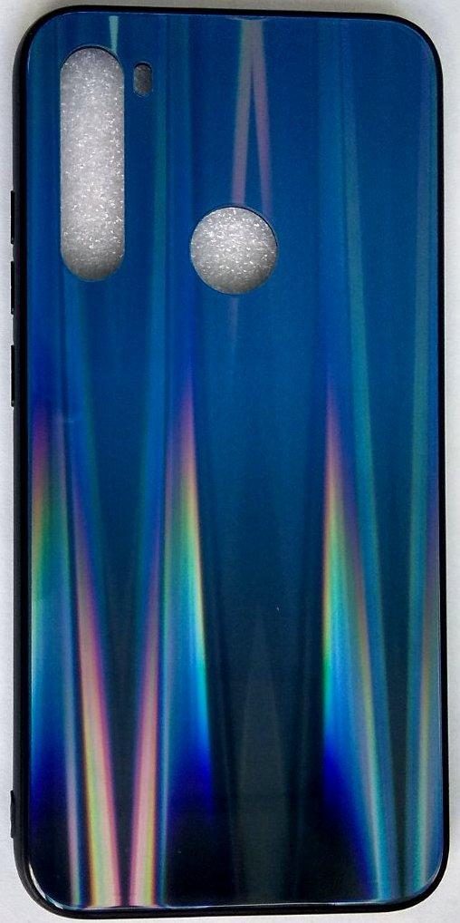 """Силиконовый чехол """"Стеклянный Shine Gradient"""" Xiaomi Redmi Note 8 (Deep blue) # 10"""