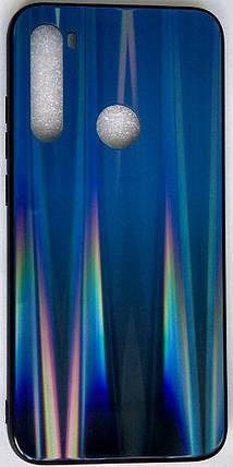 """Силиконовый чехол """"Стеклянный Shine Gradient"""" Xiaomi Redmi Note 8 (Deep blue) # 10, фото 2"""
