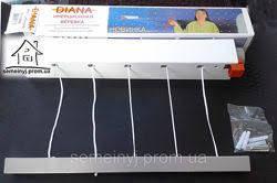 Веревка бельевая инерционная Diana, фото 2
