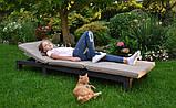 Шезлонг Allibert Daytona Brown ( коричневый ) из искусственного ротанга, фото 6