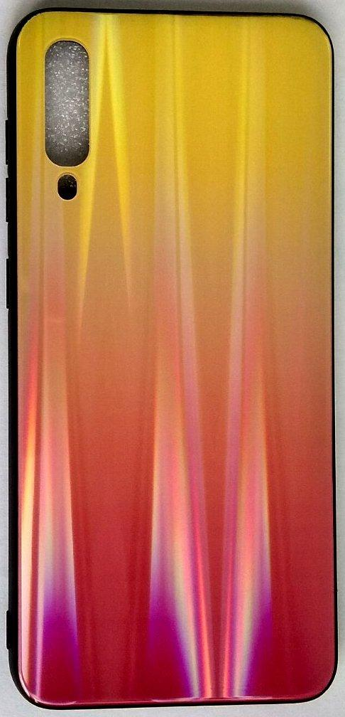 "Силиконовый чехол ""Стеклянный Shine Gradient"" Samsung A500 / A50 / A307 / A30S (Sunset red) # 5"