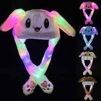 Светящейся шапка зайца с двигающимися ушами