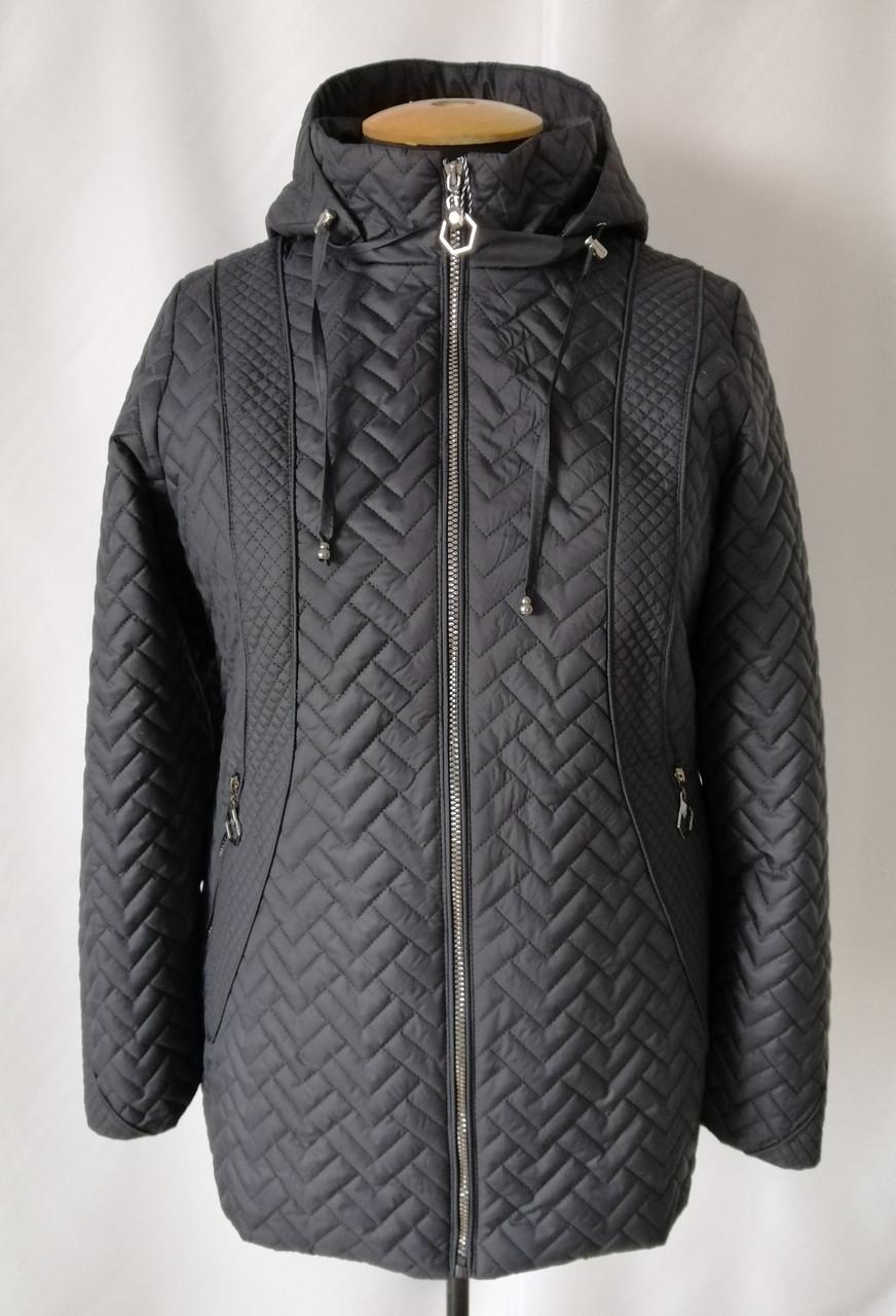Жіноча куртка великого розміру від виробника 54-68 чорний