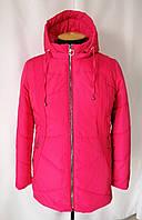 Женская весенняя куртка  больших размеров   54-68  малиновый