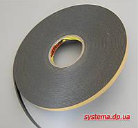 3M 9556В - Двухсторонняя клейкая лента (скотч) с акриловым адгезивом, серый, 3,0х19,0 мм, рулон 16,4 м