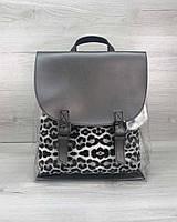 Рюкзак силиконовый  металлик с косметичкой