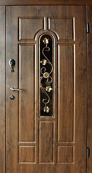Вхідні двері Стандарт Плюс Арка вулиця з Ковкою