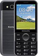 "Мобильный телефон Philips Xenium E580 Dual Sim Black; 2.8"" (320х240) TN / ОЗУ 64 МБ / 128 МБ встроенной + microSD до 32 ГБ / камера 2 Мп / 2G (GSM) /"