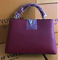 Женская кожаная сумка Louis Vuitton Capucines  Original quality зеркальная реплика