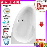 Асимметричная акриловая ванна 140x95 см Excellent Newa Plus WAEX.NEP14WH правосторонняя