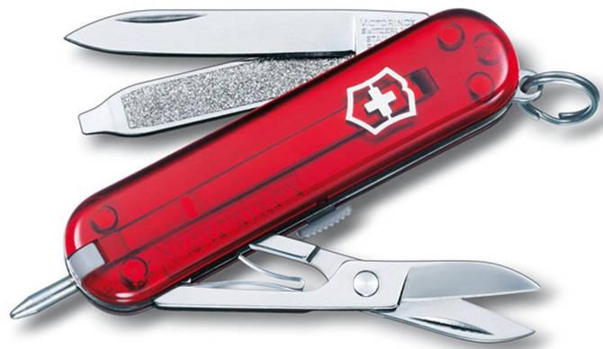 Карманный складной нож Victorinox Signature 06225 красный
