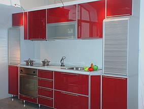 Кухня пластик в профиле №7, фото 3